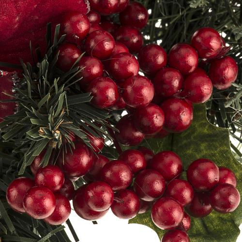 Christmas garland with star, berries and cypress 2