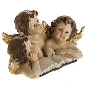 Tre angioletti con libro decoro natalizio s2