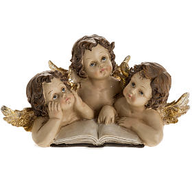 Three angels with book, Christmas decoration s1