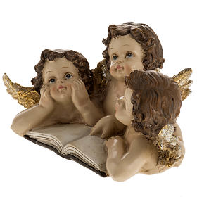 Three angels with book, Christmas decoration s3