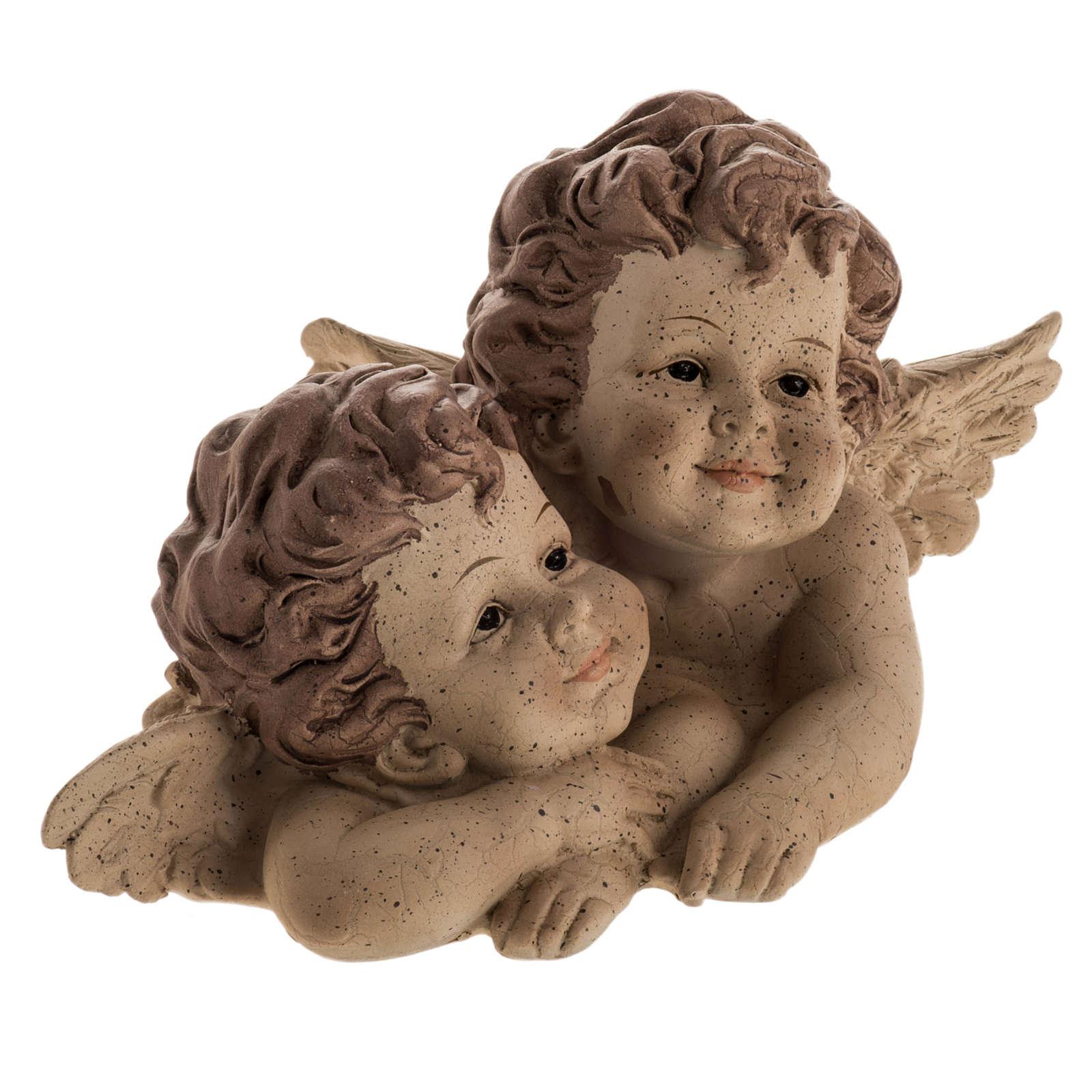 Angioletti abbracciati statuina natalizia 3