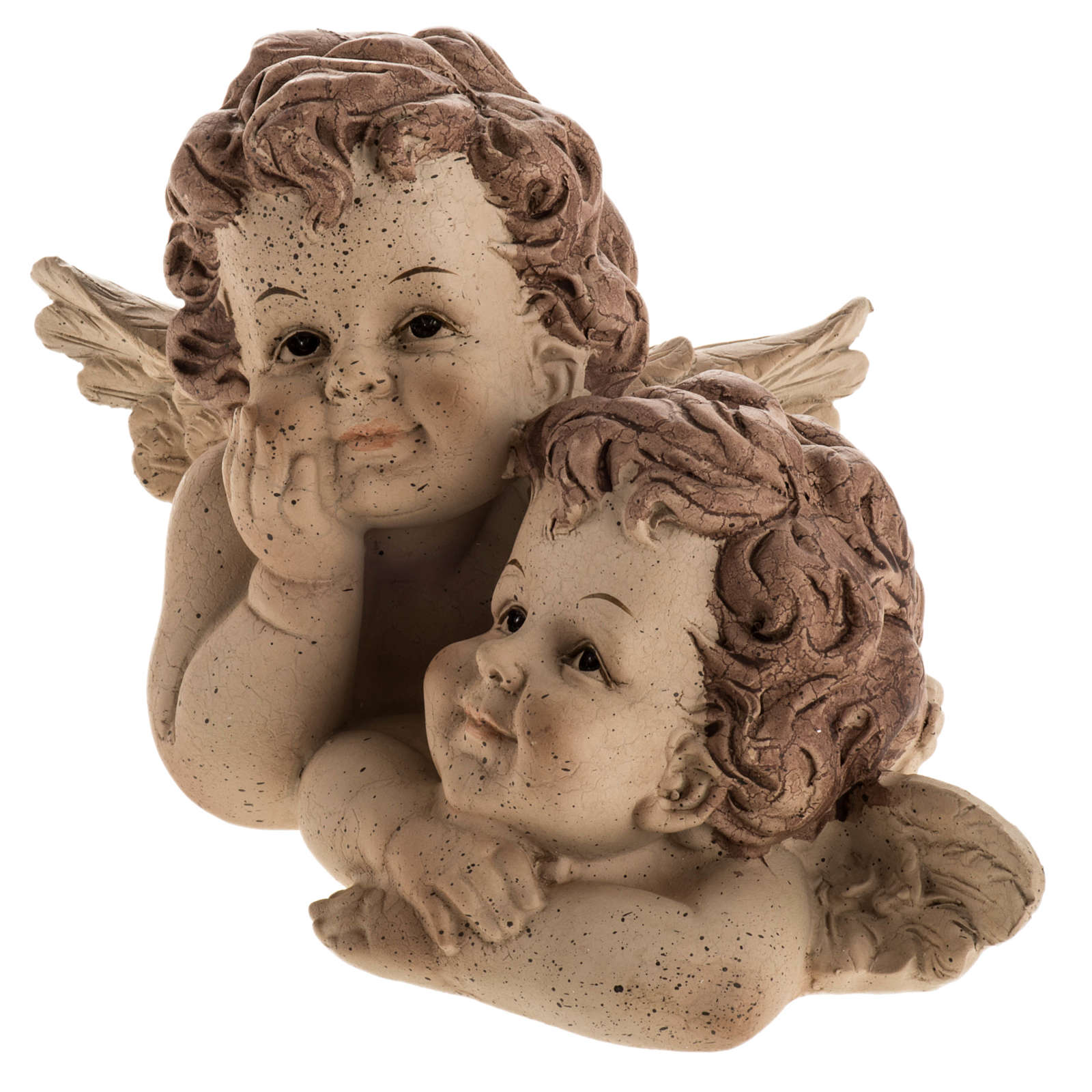 Angelitos abrazados, estatuita para la navidad 3