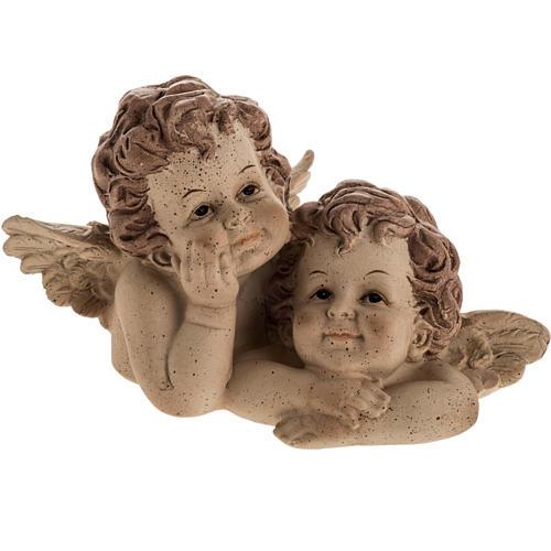 Angioletti abbraccio statua decoro natalizio 1