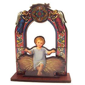 Enfeites de Natal para a Casa: Imagem Menino Jesus madeira 11 cm