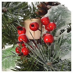 Advent wreath with berries s3
