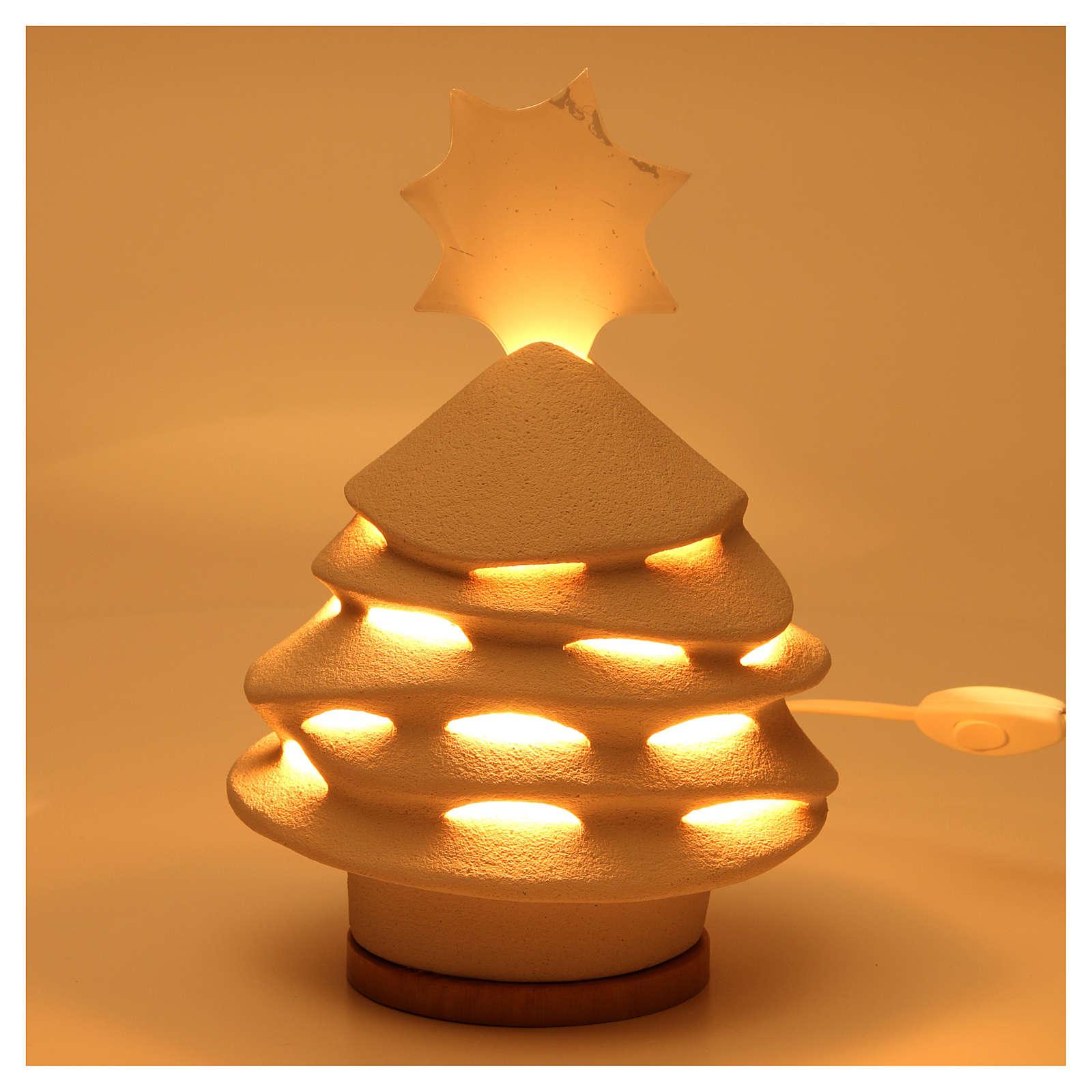 Christmas tree made of ceramics from Centro Ave, 38cm Illuminated 3