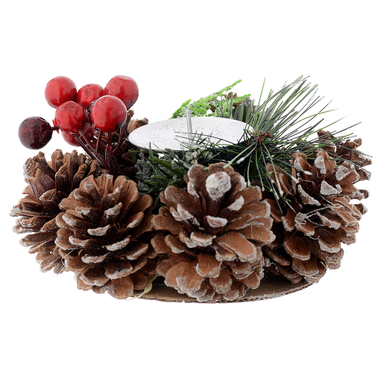 Centrotavola natalizio portacandela 3