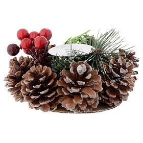 Centrotavola natalizio portacandela s1