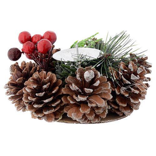 Centrotavola natalizio portacandela 1