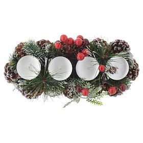 Centrotavola Avvento Natale portacandela per 4 candele s2