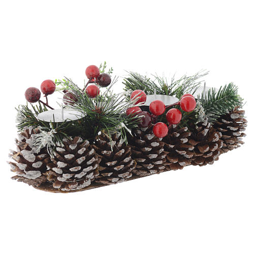 Centrotavola Avvento Natale portacandela per 4 candele 1