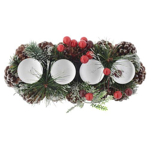 Centrotavola Avvento Natale portacandela per 4 candele 2