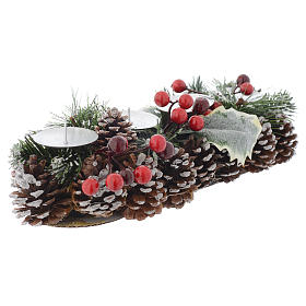 Christmas centrepiece with candle holder for 4 candles s1