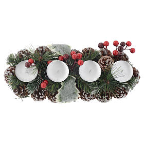Christmas centrepiece with candle holder for 4 candles s2