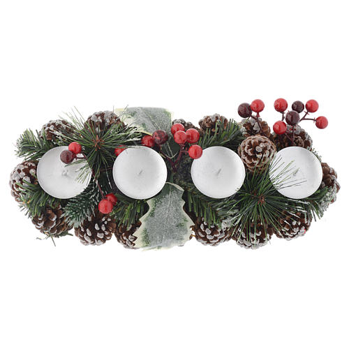 Christmas centrepiece with candle holder for 4 candles 2