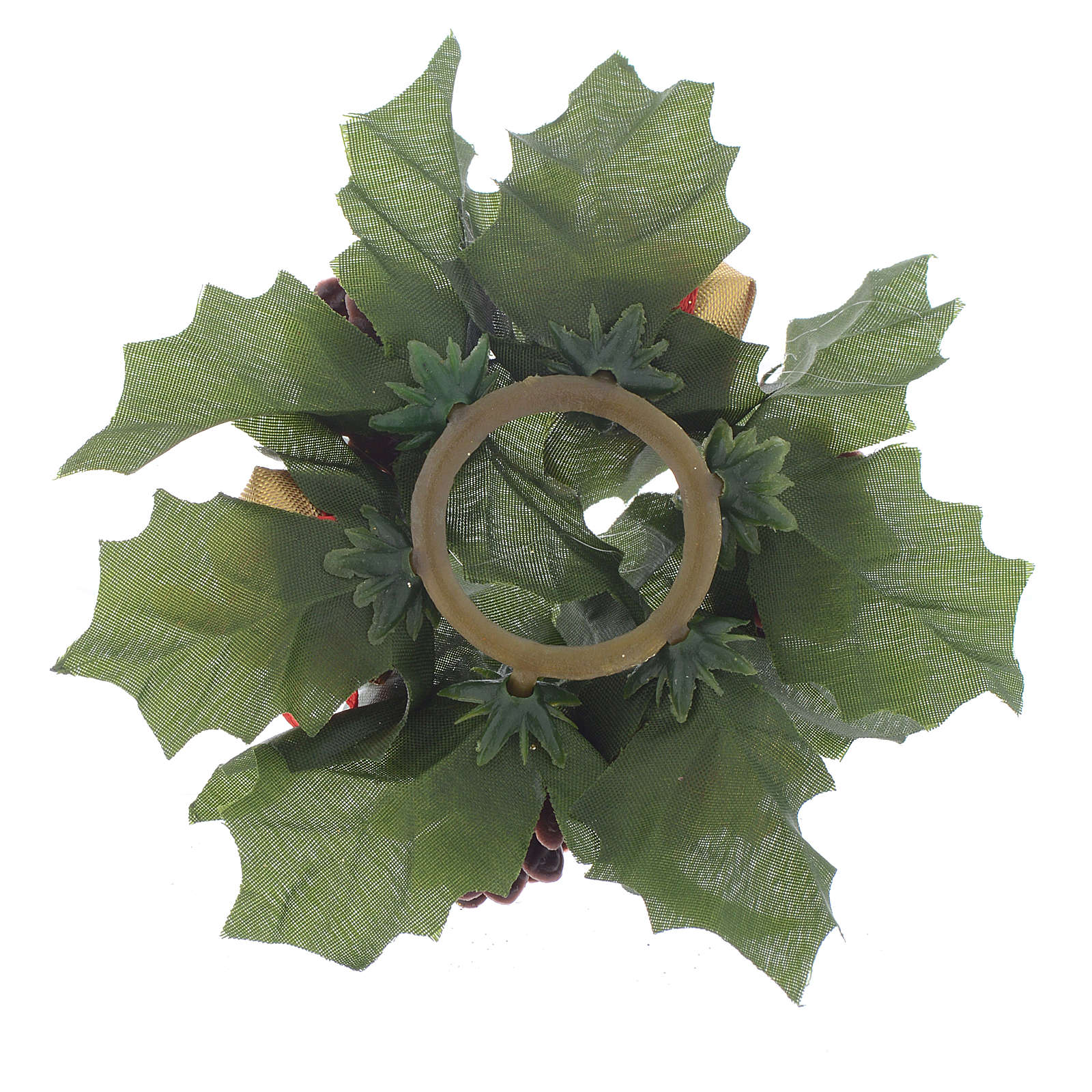 Girocandela natalizio (per candela sfera) pigne stelle bianche 3