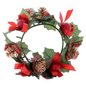 Girocandela di Natale (per candele classiche) pigne fiocchi s1