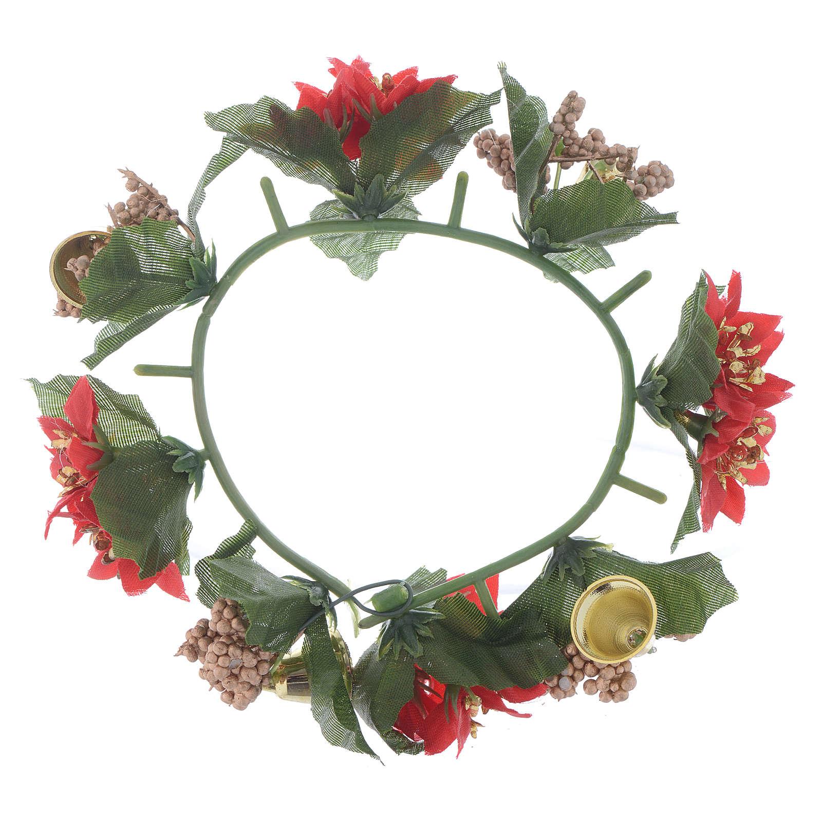 Girocandela di Natale (per candele classiche) pigne e bacche 3