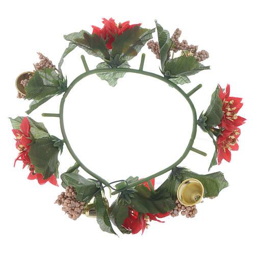 Girocandela di Natale (per candele classiche) pigne e bacche 2