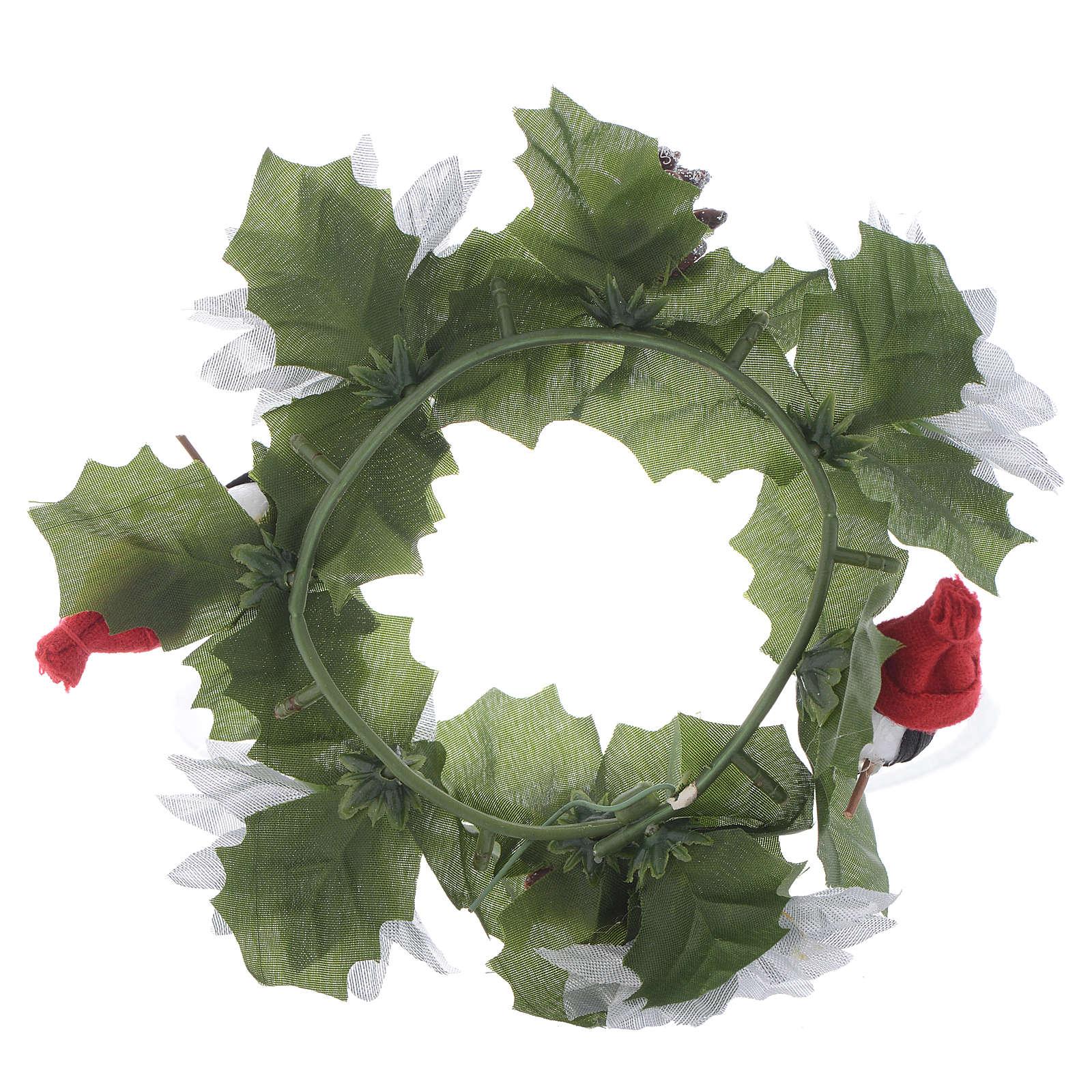 Girocandela di Natale (per candele classiche) pigne e pupazzi 3