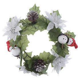 Girocandela di Natale (per candele classiche) pigne e pupazzi s1