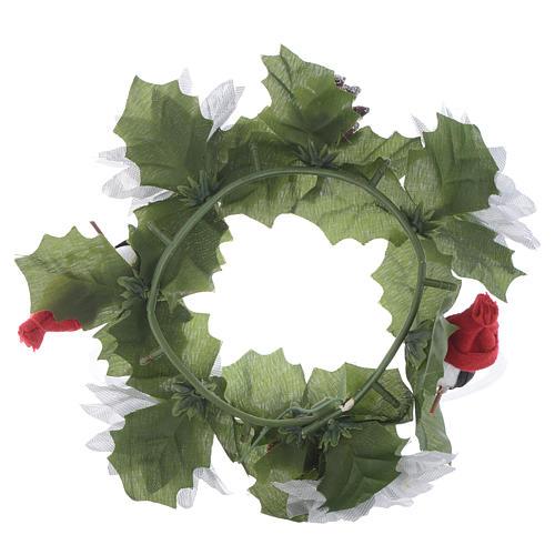 Girocandela di Natale (per candele classiche) pigne e pupazzi 2