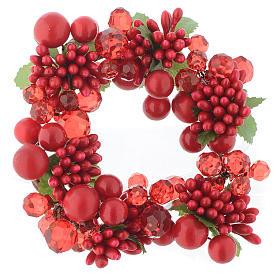 Decoraciones navideñas para la casa: Centro de mesa navideño con perlas para velas 8 cm