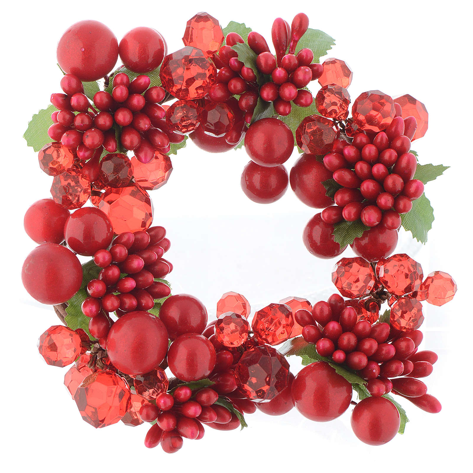 Garland for Christmas candles with pearls 8cm diameter 3