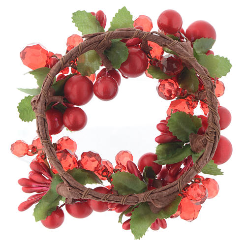 Garland for Christmas candles with pearls 8cm diameter 2