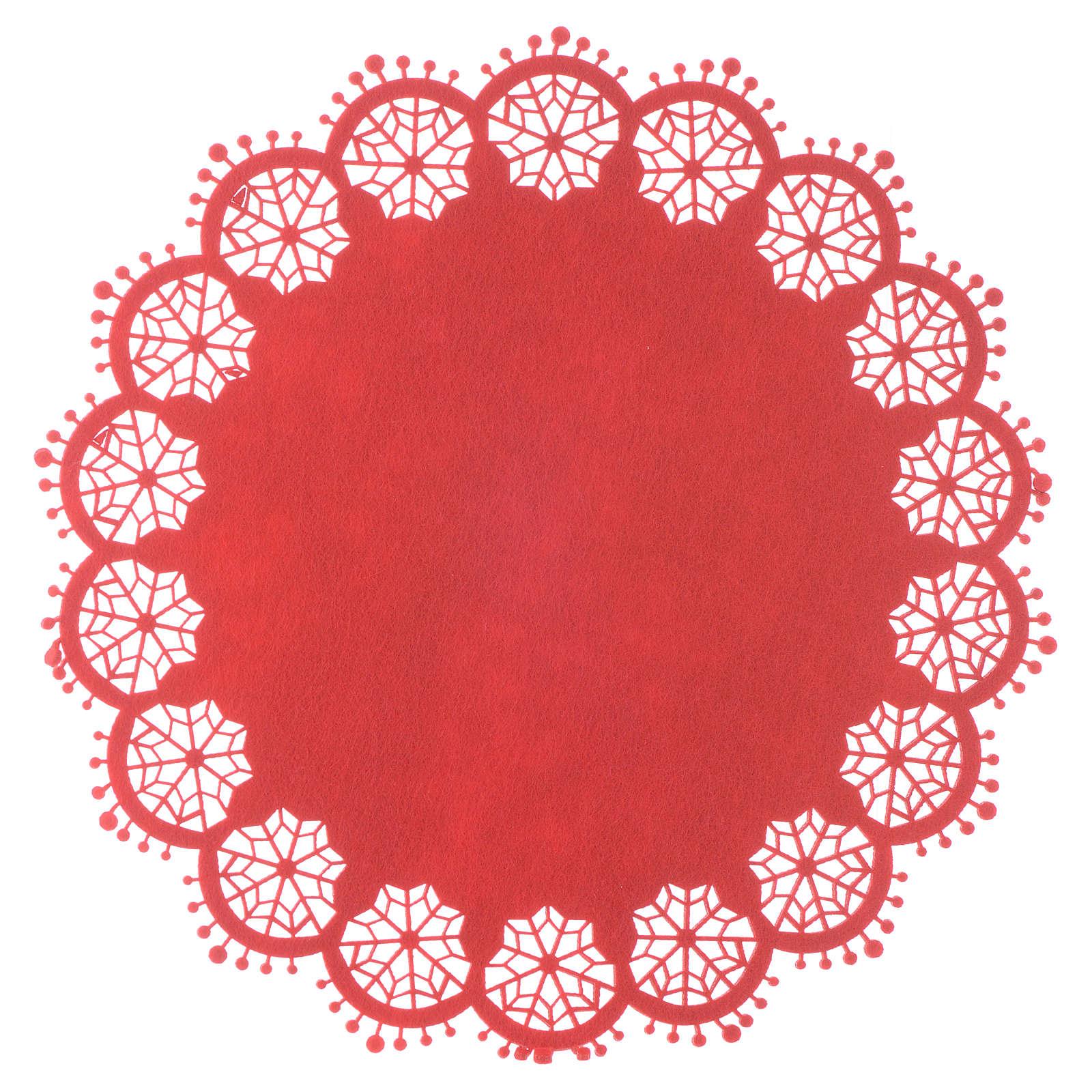 Centro de mesa navideño rojo diam 33 cm 3