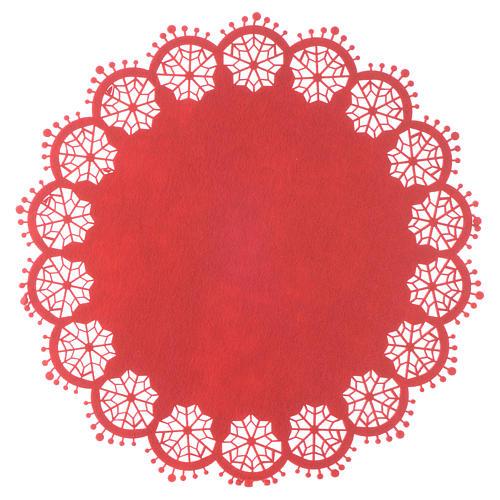 Centro de mesa navideño rojo diam 33 cm 1