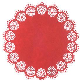 Centrotavola natalizio rosso diam 33 cm s1