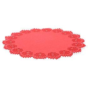 Centrotavola natalizio rosso diam 33 cm s2