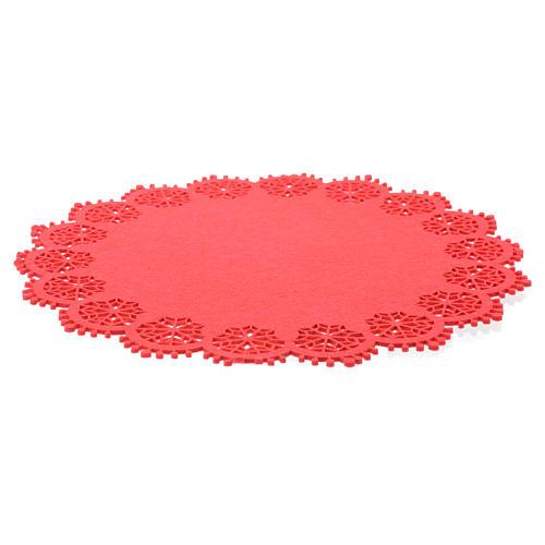 Centrotavola natalizio rosso diam 33 cm 2