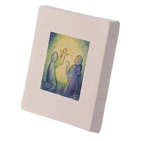 Cuadro Navideño Natividad de arcilla 10x10 cm s2
