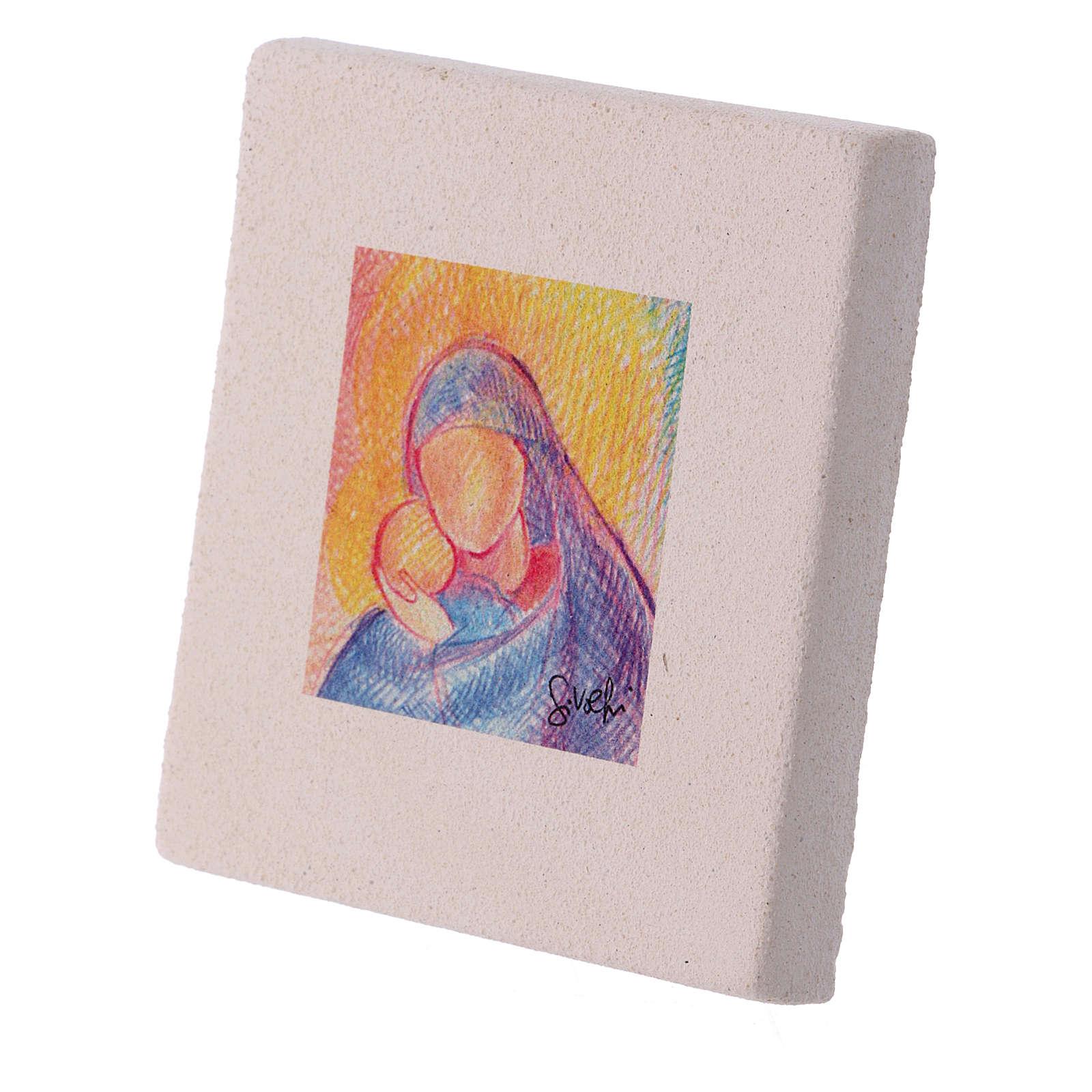 Christmas miniature the hug between Mary and Jesus 10X10 cm 3