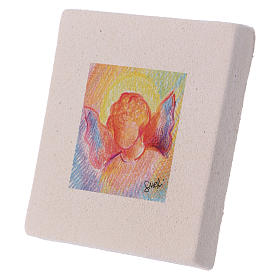 Christmas miniature coloured angel in clay 10X10 cm s2