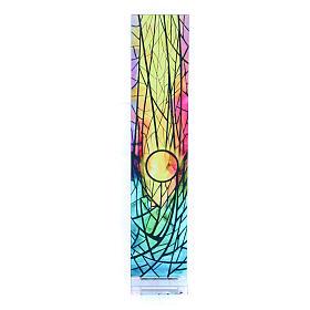 Pequeña vidriera de Navidad coloreada Sol naciente 18x3,8 cm s1