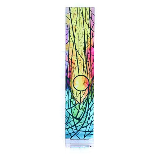 Pequeña vidriera de Navidad coloreada Sol naciente 18x3,8 cm 1
