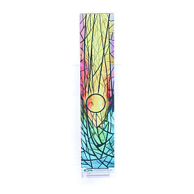Vetratina di Natale colorata Sole nascente 18X3,8 cm s3