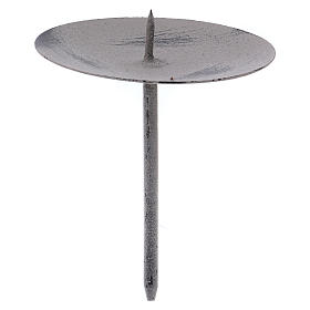 Grey candle holder for advent wreath 11 cm s1
