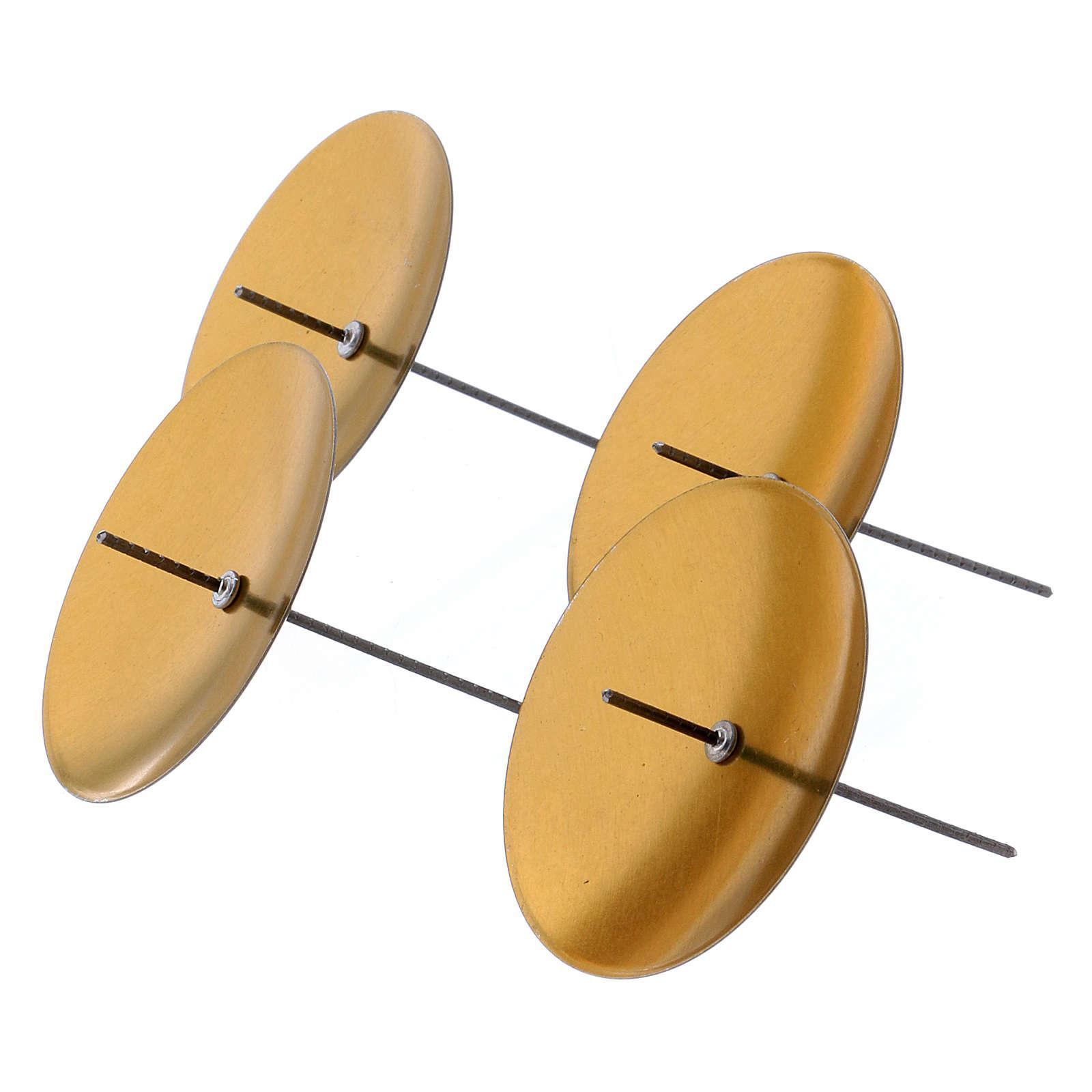 Base vela cirio color oro set 4 piezas diámetro 55 mm 3