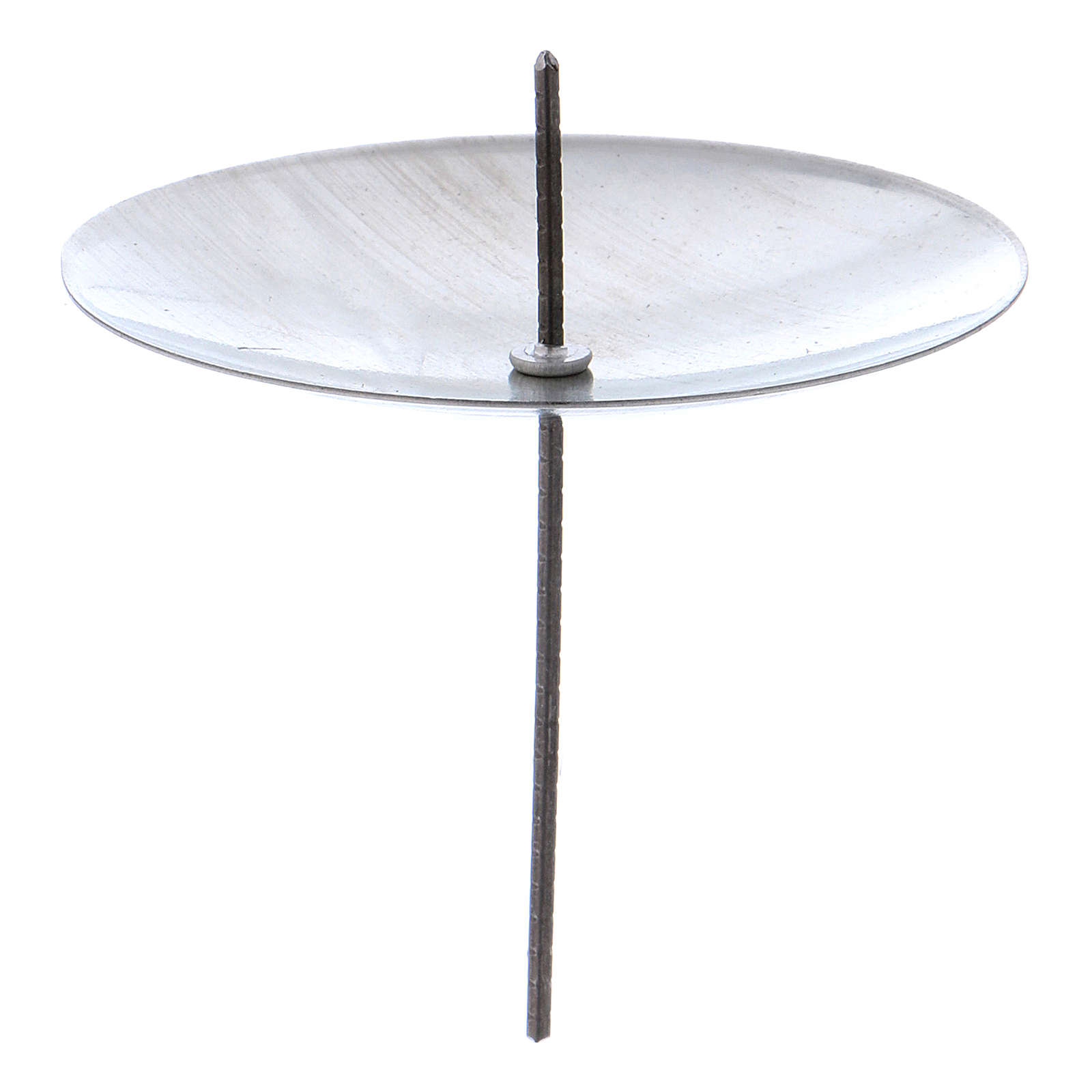 Candle base in silver coloured metal, diameter 55 mm, set of 4 pcs 3