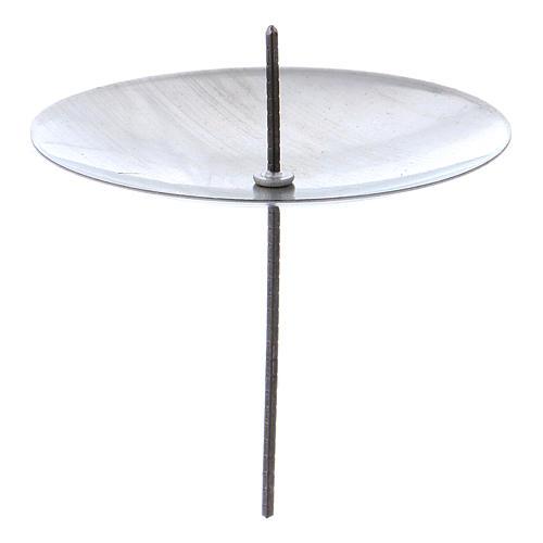 Support bougie cierge couleur argent set 4 pièces diam 55 mm 1
