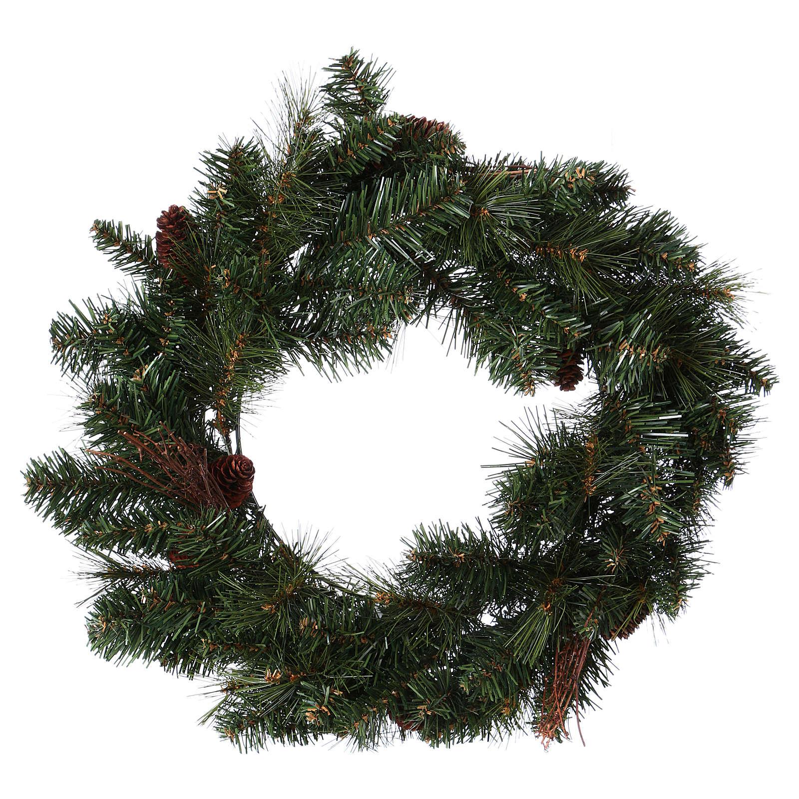 Advent wreath garland with pine cones, diameter 50 cm 3