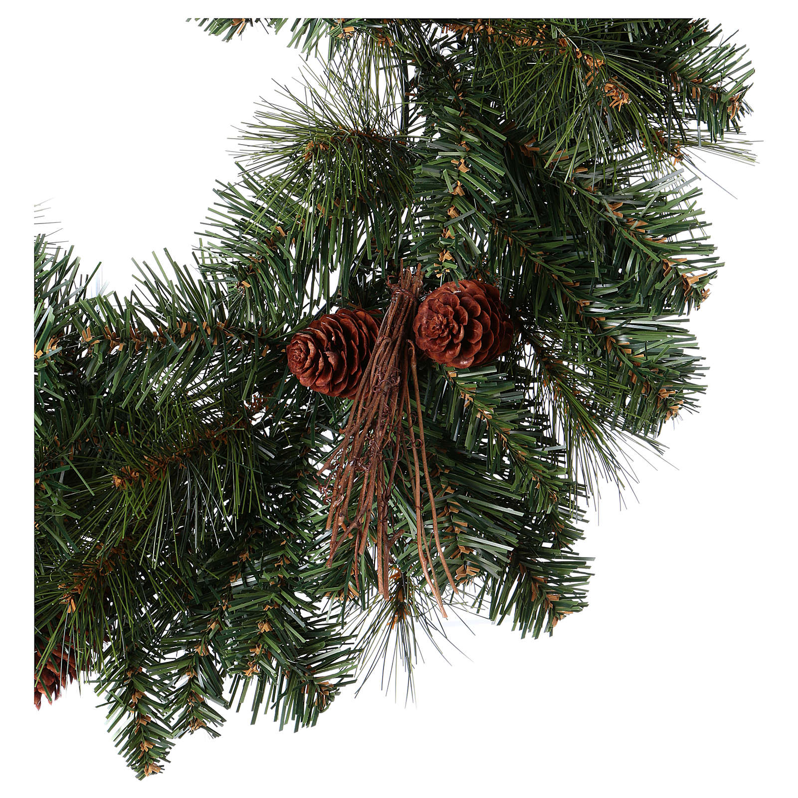 Advent Wreath Garland With Pine Cones Diameter 50 Cm