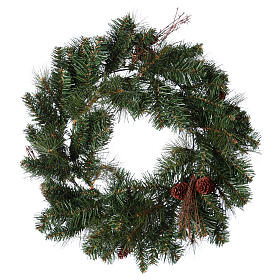 Advent wreath garland with pine cones, diameter 50 cm s2