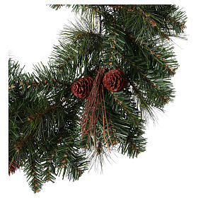 Advent wreath garland with pine cones, diameter 50 cm s3