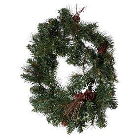 Advent wreath garland with pine cones, diameter 50 cm s4