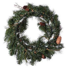 Advent wreath garland with pine cones, diameter 50 cm s5